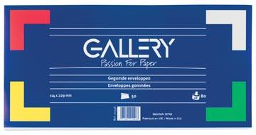 Gallery enveloppen ft 114 x 229 mm, gegomd, pak van 50 stuks