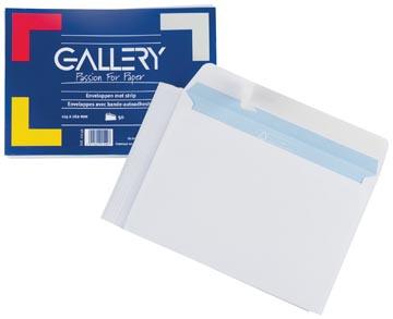 Gallery enveloppen ft 114 x 162 mm, stripsluiting, pak van 50 stuks