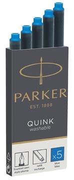 Parker Quink inktpatronen koningsblauw, doos met 5 stuks
