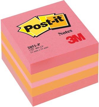 Post-it Notes, ft 51 x 51 mm, geassorteerde kleuren, blok van 400 vel
