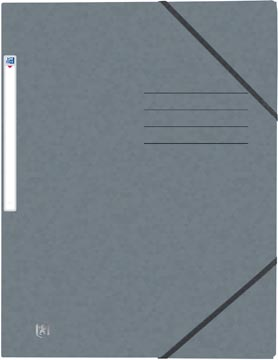 Oxford Top File+ elastomap, voor ft A4, grijs