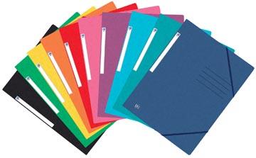 Oxford Top File+ elastomap, voor ft A4, geassorteerde kleuren, pak van 25 stuks