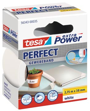 Tesa extra Power Perfect, ft 38 mm x 2,75 m, wit