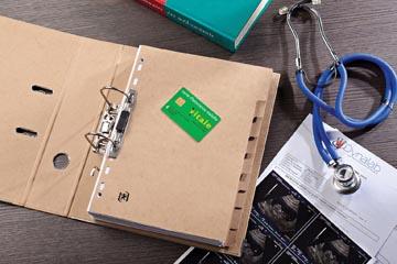 OXFORD Touareg tabbladen, formaat A4, uit karton, onbedrukt, 11-gaatsperforatie, 10 tabs