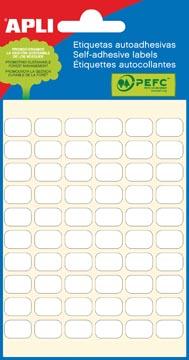 Apli witte etiketten ft 8 x 12 mm (b x h), 360 stuks, 60 per blad (2667)