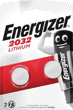 Energizer knoopcel CR2032, blister van 2 stuks