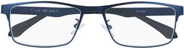SILAC Blue Metal leesbril, mat nickelvrij blauw metaal, +2,00