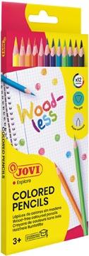 Jovi Kleurpotlood Woodless, kartonnen etui van 12 stuks
