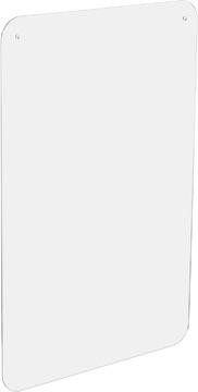 Exascreen beschermwand voor adem/sputum, glashelder, hangend, ft 100 x 66 cm