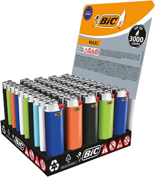 BIC J26 Maxi aansteker standaard tray x50