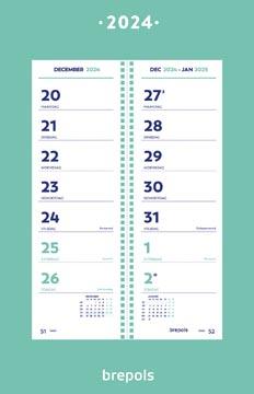 Brepols week omlegkalender op schild, 2022
