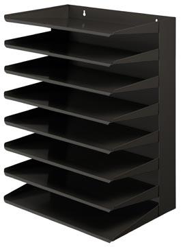 V-part sorteerrek 8-delig, zwart