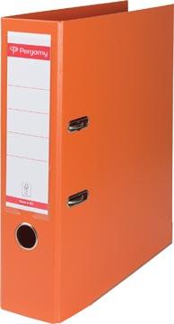 Pergamy ordner, voor ft A4, volledig uit PP, rug van 8 cm, oranje