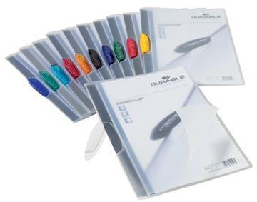 Durable klemmap Swingclip geassorteerde transparante kleuren